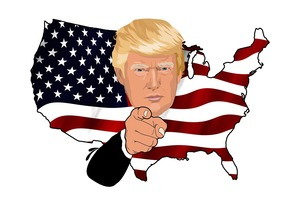 Donald Trump American Flag