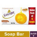 Santoor Glycerine PureGlo Soap 125g (Pack of 6)