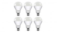 Eveready Base B22 9-Watt LED Bulb (Pack of 6, Cool Day White Light)