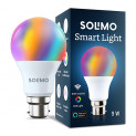 Amazon Brand – Solimo Smart LED Light, 9W, B22 Holder, Alexa Enabled