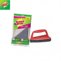 Scotch-Brite Cotton 1 Piece Floor Cleaning Cloth and 1 Piece Jet Scrubber Brush Tough (Multicolour)
