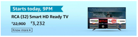 RCA 80 cm (32 Inch) HD Ready Smart LED TV