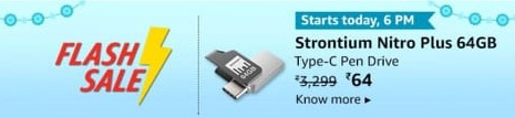 [Flash Sale] Strontium Nitro Plus 64GB Type-C USB 3.1 Flash Drive