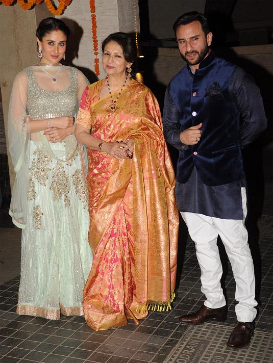 Kareena Kapoor Sharmila Tagore Saif Ali Khan Image Courtesy Ashish Vaishnav