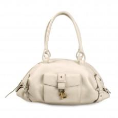 Salvatore Ferragamo Textured Leather Ganchio Shoulder Bag