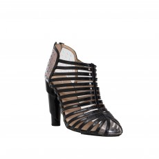 Chanel Patent Leather Cage Booties