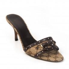 Gucci Horsebit Bow Slide Sandals Size 38.5
