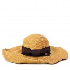 Gucci Tan Straw Havana Wide Brim Hat 01