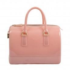Furla Pink Glossy Rubber Candy Handbag