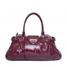 Salvatore Ferragamo Patent Leather Marisa Shoulder Bag