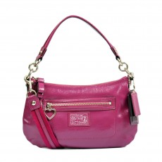 Coach Poppy Daisy Liquid Gloss Berry Crossbody