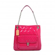 Coach Poppy Liquid Gloss Patent Leather Tote