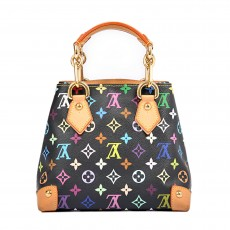 Louis Vuitton Black Multicolore Monogram Audra Bag 01