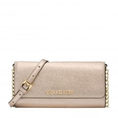 Michael Kors Jet Set Metallic Saffiano Chain Wallet-1