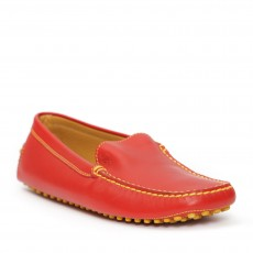 Tod's Ferrari Red Leather Mocassions 06