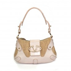 Valentino Straw Shoulder Bag With Swarovski Crystals