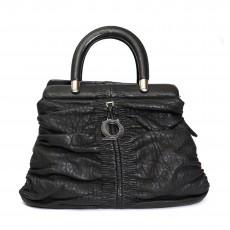 Christian Dior Black Lambskin Karenina Tote Bag