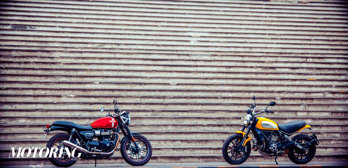 The Triumph Bonneville Street Twin Vs The Ducati Scrambler Icon