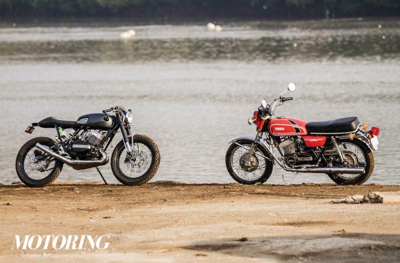 ALL SMOKE, ALL FIRE: Moto Exotica RD350 Café Racer - Motoring World