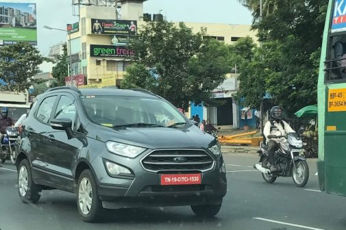 2018 Ford EcoSport India spotted