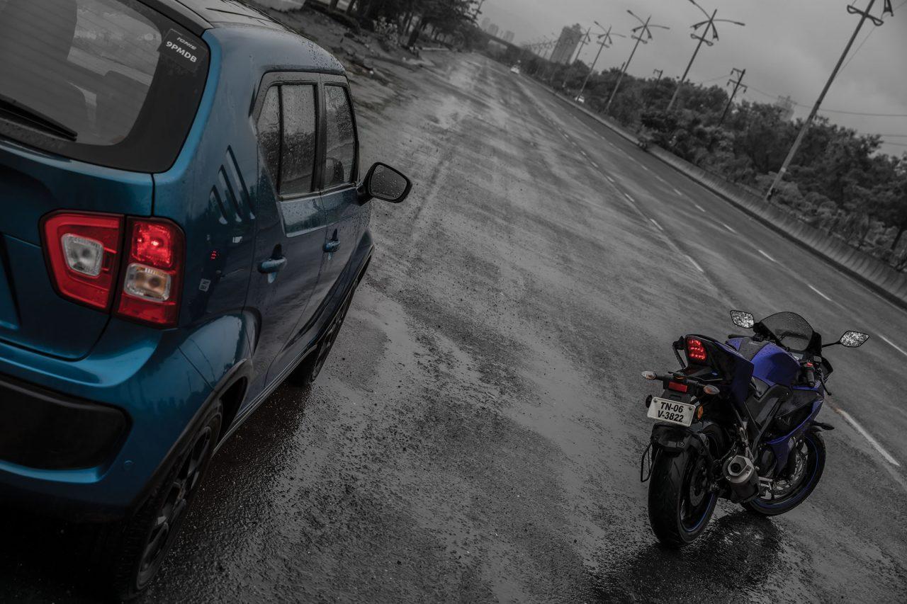 Maruti Suzuki Ignis vs Yamaha R15