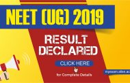 NTA NEET-UG 2019: Result has been Declared! Check Your Result Now!