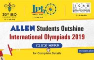 8 students of ALLEN Career Institute to represent Team INDIA in International Olympiads 2019