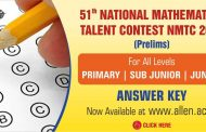 NMTC 2019 Answer Key | NMTC Prelims 2019 Answer Key by ALLEN Career Institute