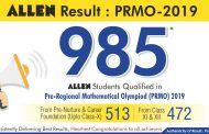 985 Students of ALLEN Career Institute outshine in PRMO Result