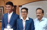 IESO Medalists from ALLEN honored by Union Science and Technology Minister Dr. Harsh Vardhan