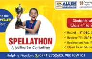Spellathon 2019 – a spelling bee competition for class 4 to 9 students. Register Today