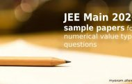 JEE Main 2020 sample paper for numerical value type questions released by NTA for Mathematics, Chemistry & Physics