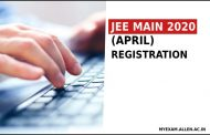 JEE Main April 2020 Exam online registration to begin from next week. Know More