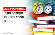 JEE Main (April Attempt) 2020 Exam online registration begins. Know More