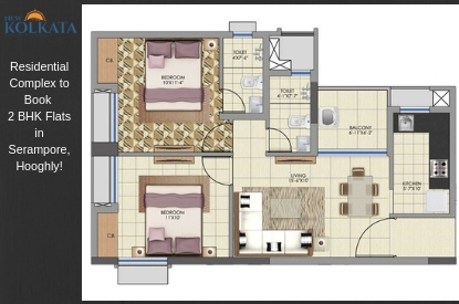 2 BHK Flats in Serampore