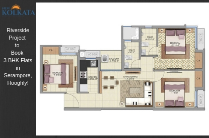 3 BHK Flats in Serampore