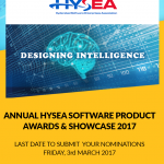 ANNUAL HYSEA SOFTWARE PRODUCT AWARDS & SHOWCASE 2017