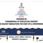 Program on Fundamentals of Intellectual Property and Related Transactions for Start Ups & Entrepreneurs