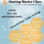 Startup Master Class – Take a leap from zero to one