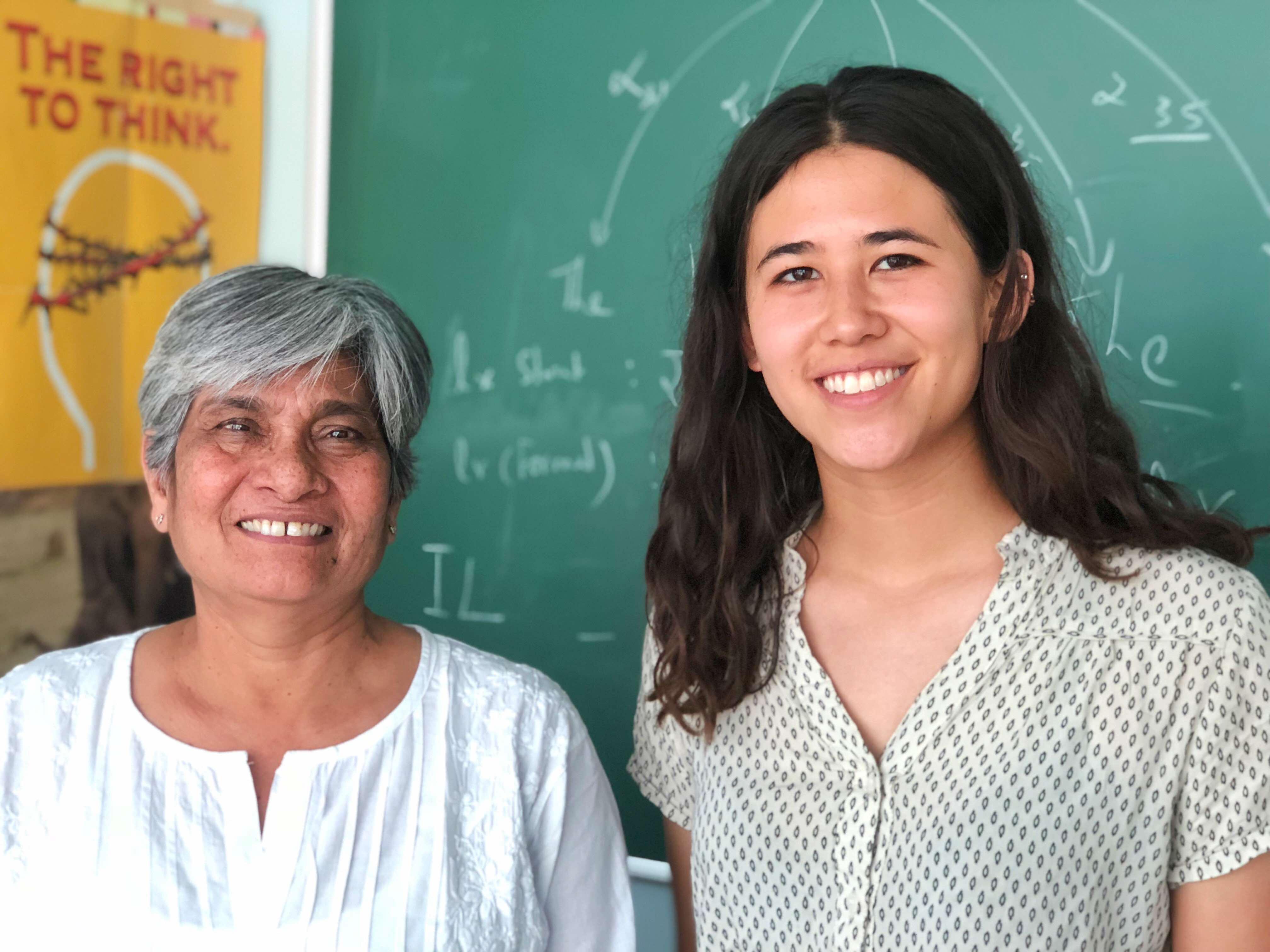 Prof Dipti Misra Sarma & Kelsey Taylor Ball