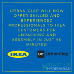 UrbanClap becomes Furniture Assembly Service partner for Swedish home furnishing brand IKEA in Hyderabad