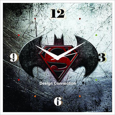 batman versus superman wall clock