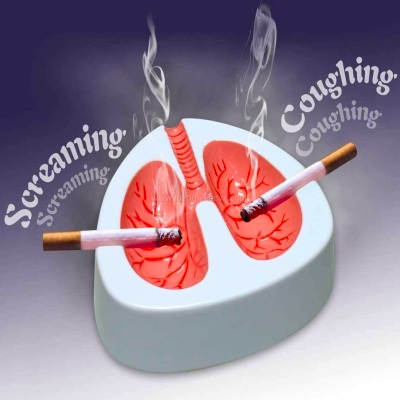 screaming lungs ashtray