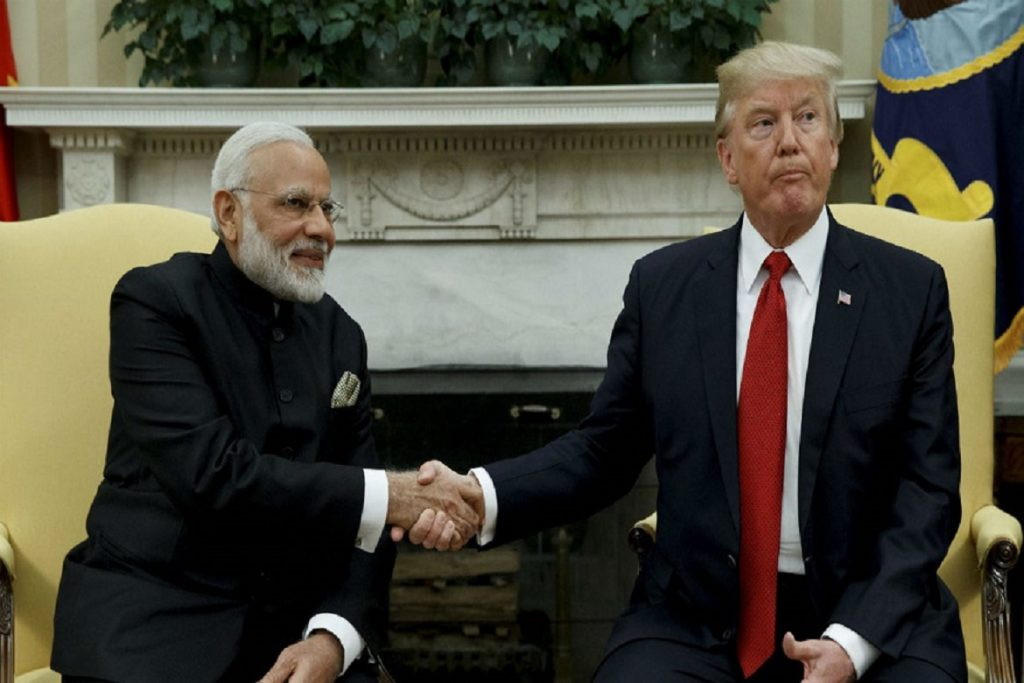 Narendra Modi with Donald Trump