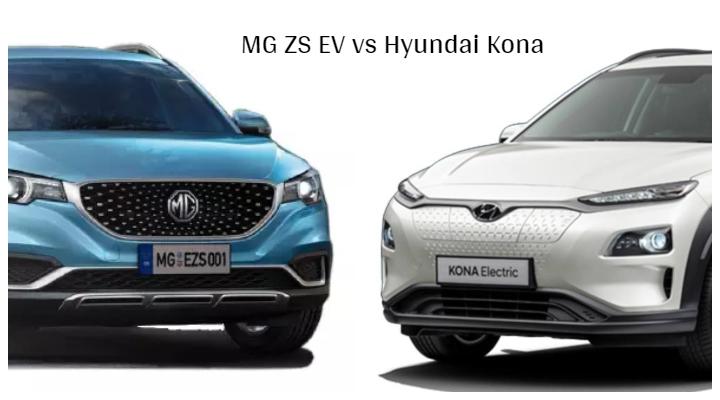 MG ZS EV vs Hyundai Kona Electric Image
