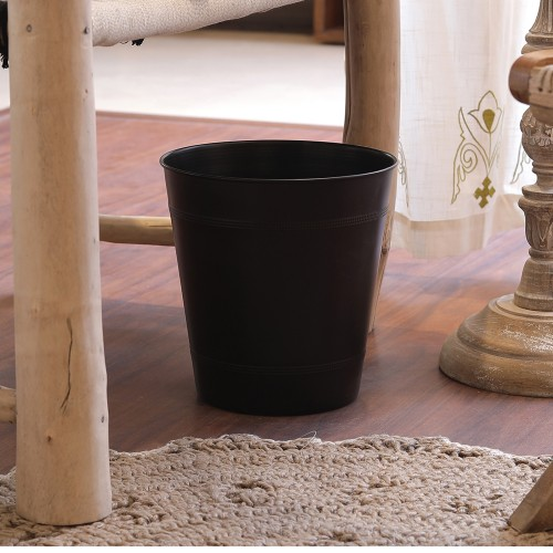 The Décor Mart ORB plain brown open Dustbin (10x10x7) inches.