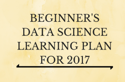 Infographic – Learning Plan 2017 for beginners in data science