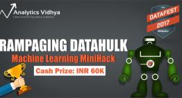 Winner's Approach – Rampaging DataHulk MiniHack, AV DataFest 2017
