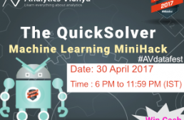 Winners solutions & approach: The QuickSolver MiniHack, DataFest 2017
