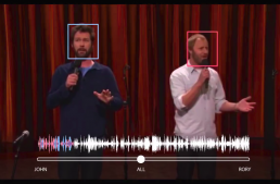Google's Neural Network Extracts the Audio Source by Looking at the Person's Face